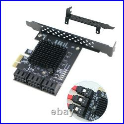 PCIe 2.0 x1 to SATA III 6 Ports Adapter Card Marvell Chipset Non-Raid