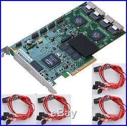 PCIe 8x SATA RAID CONTROLLER LSI 3WARE 9650SE-16ML KABELSATZ FÜR 16x HDD BIS 4GB