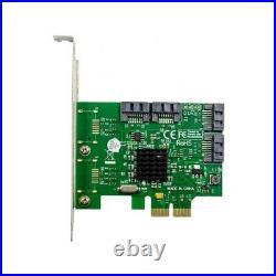PCIe To 4 Ports SATA III 6G RAID Converter Card Adapter Card 88SE9230 Chipset