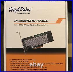 RocketRAID 3740A 12Gb/s SAS/SATA PCIe 3.0 x8 RAID Host Adapters