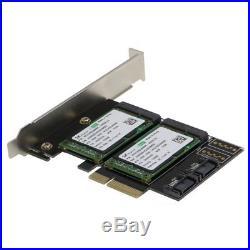SEDNA PCIe Dual mSATA SSD Raid Adapter with 2 SATA III Port