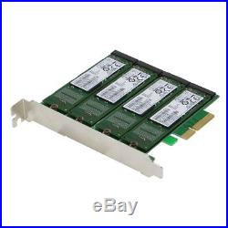 SEDNA PCIe Quad M. 2 SATA SATA 6G 4 Port Raid Adapter mit HyoperDuo Festplatten