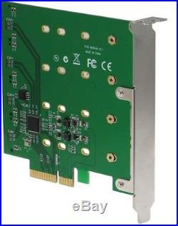 SEDNA PCIe Quad M. 2 SSD SATA 6G 4 Port Raid Adapter With HyoperDuo Hard Disk