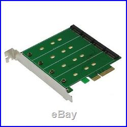 SEDNA PCIe Quad M. 2 SSD SATA 6G 4 Port Raid Adapter with HyoperDuo Hard dis
