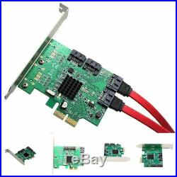 Sata III 4 Port Pci-e 2.0 X2 Non Raid Hard Drive Controller Card Marvell 9235