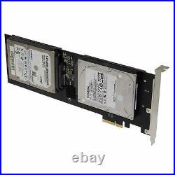 Sedna PCIe 4X Quad 2.5 Inch SATA SSD RAID Controller Card (RAID 0/1/10)