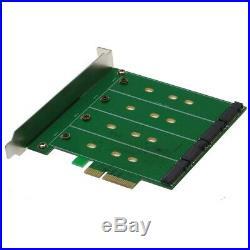 Sedna PCIe Quad M2 SSD SATA6G 4Port Raid Adapter Hyoper Duo func. (196281)