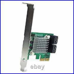 Star Tech 4 Port PCI Express 2.0 Internal SATA III 6Gbps PC RAID Controller Card