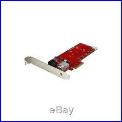 StarTech 2x M. 2 NGFF SSD RAID Controller Card Plus SATA III Ports PCIe