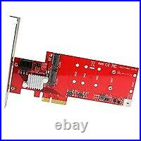 StarTech 2x M. 2 NGFF SSD RAID Controller Card plus 2x SATA III Ports PCIe PEXM