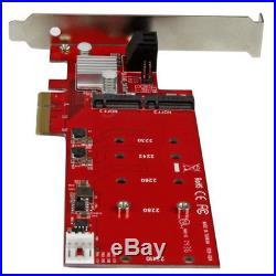StarTech. Com 2x M. 2 NGFF SSD RAID Controller Card plus 2x SATA III Ports PCIe