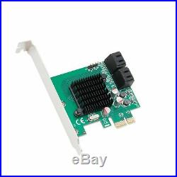 Syba 4 Port SATA III PCI-e 2.0 x1 Controller Card Marvell 9215 Non-Raid with