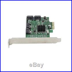 Syba Sata Iii 4 Port Pci-E 2.0X 2 Card With Marvell Hyperduo Raid Mode Support New