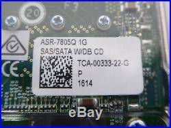TB Adaptec ASR-7805Q SAS/SATA RAID Controller Card 6Gb/s PCIe X8 2274300-R